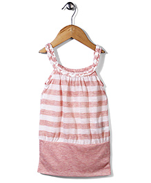 Candy Rush Stripe Print Tunic - Pink