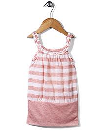 Candy Rush Stripe Print Tunic - Pink