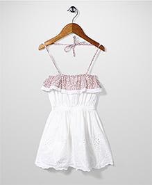 Candy Rush Halter Neck Dress - White