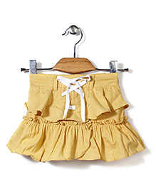 Candy Rush Double Layer Frill Skirt - Yellow