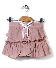 Candy Rush Double Layer Frill Skirt - Pink