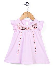 Little Wonder Half Sleeves Dress - Pink