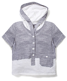 Candy Rush Hooded T-Shirt - Grey