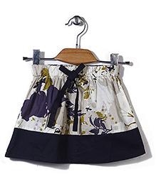 Candy Rush Printed Skirt - Navy & Cream