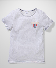Candy Rush Solid Pattern T-Shirt - Grey