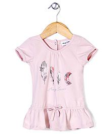 Little Wonder Half Sleeves Top - Pink