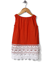 Candy Rush Embroiderd Top - Orange