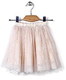Candy Rush Natted Flower Skirt - Peach