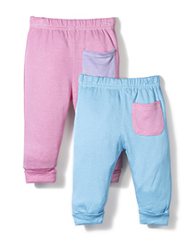 Dreamcatcher Set Of Two Pants With Pockets - Blue & Pink