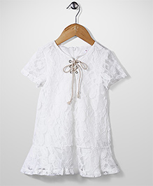 Candy Rush Natted Top - White