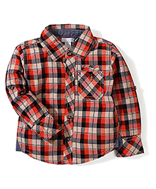 Kidsplanet Checkered Shirt - Orange