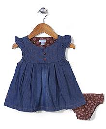 Miss Pretty Dress & Bloomer Set - Blue