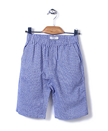 Candy Hearts Striped Shorts - Blue