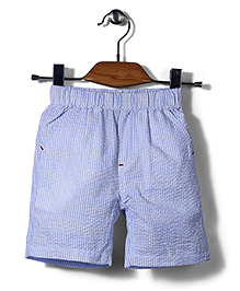 Candy Hearts Striped Shorts - Light Blue