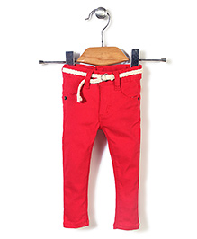 Candy Hearts Casual Pants - Red