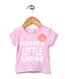 Candy Hearts Mommy's Little Sunshine Print Top - Pink