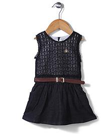 Dreamcatcher Dress With Belt - Black