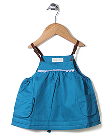 Dreamcatcher Lovely Dress With Pockets - Blue