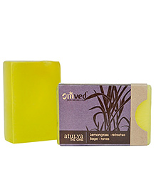 Omved Atulya Lemongrass Sage Bath Bar - 125 Gm
