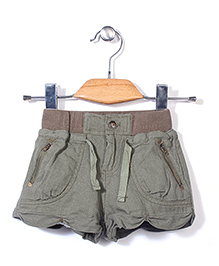 Candy Rush Casual Shorts With Side Pockets  - Green