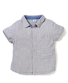 Candy Rush Front Open Shirt - Grey