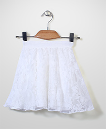Candy Rush Embroiderd Skirt - White