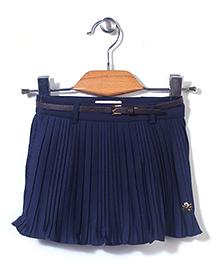 Dreamcatcher Attractive Frill Skirt - Navy Blue
