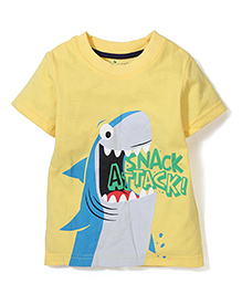 Poly Kids Snack Attack Print Tee - Yellow