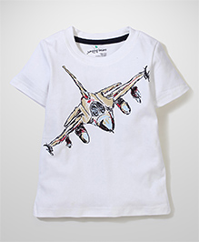 Poly Kids Airplane Print Tee - White