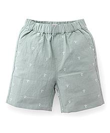 Candy Hearts Anchor Print Shorts - Grey