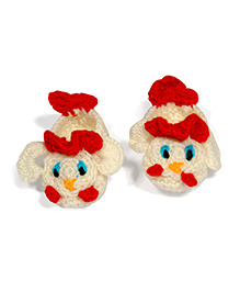 The Original Knit Handcrafted Duck Shaped Booties - White