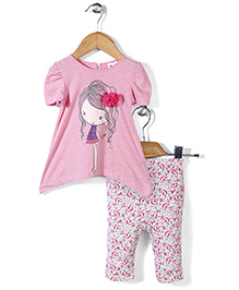Candy Rush Tee & Pant Set - Pink