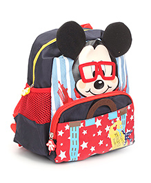 Disney Mickey Mouse Print School Bag Black - 10.6 Inches