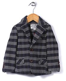 Elite Fashion Striped Jacket - Grey