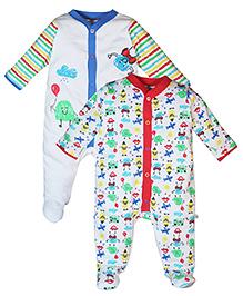 FS Mini Klub Footed Sleep Suit Set of 2 - Multi Color