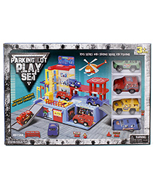 Parking Lot Car Play Set - Pack Of 3 Cars