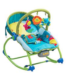 LuvLap Animal Kingdom Toddler Rocker Blue - 18208