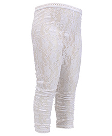 Candy Rush Netted Leggings - White