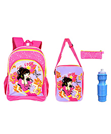 Avon Bags Butterfly School Backpack Combo Pink - 16 inches