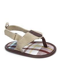 Luvable Friends Boys Checkered Print Sandals - Multicolour
