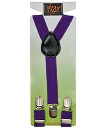 Tiekart Holding It Up Playful Belt Suspender - Purple