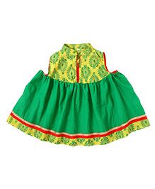 Little Pocket Store Ethnic Dress - Green