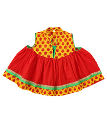Little Pocket Store Ethnic Dress - Red