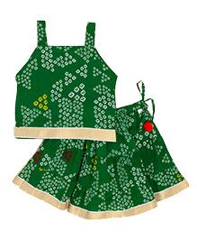 Little Pocket Store Traditional Lehenga Choli Set - Green