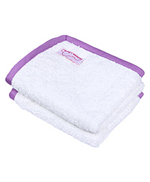 Mumma's Touch Organic Cotton & Bamboo Baby Wash Towel Pack of 2 - Off White