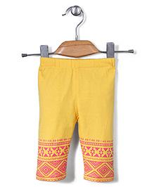 Little Kangaroos Printed Leggings - Yellow