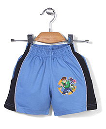 Red Ring Shorts Ben 10 Print - Blue