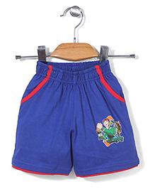 Red Ring Shorts Ben 10 Print - Blue