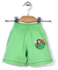 Red Ring Shorts Ben 10 Print - Green