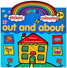 Rainbow Stickers & Colouring Out And About